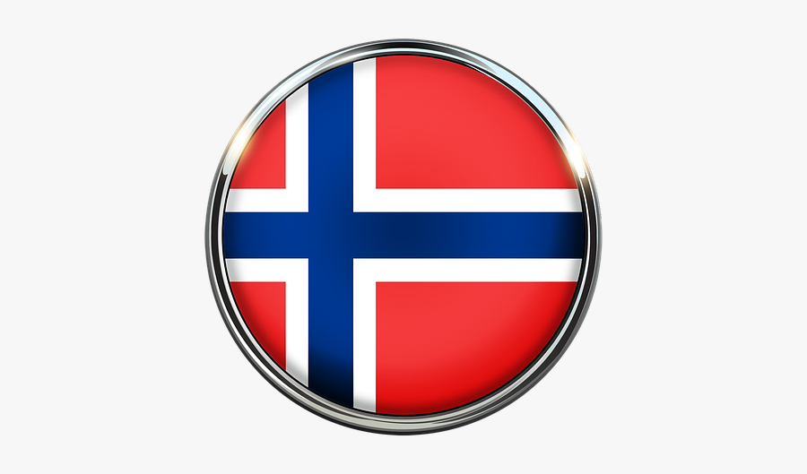 Norway Flag In A Circle, Transparent Clipart