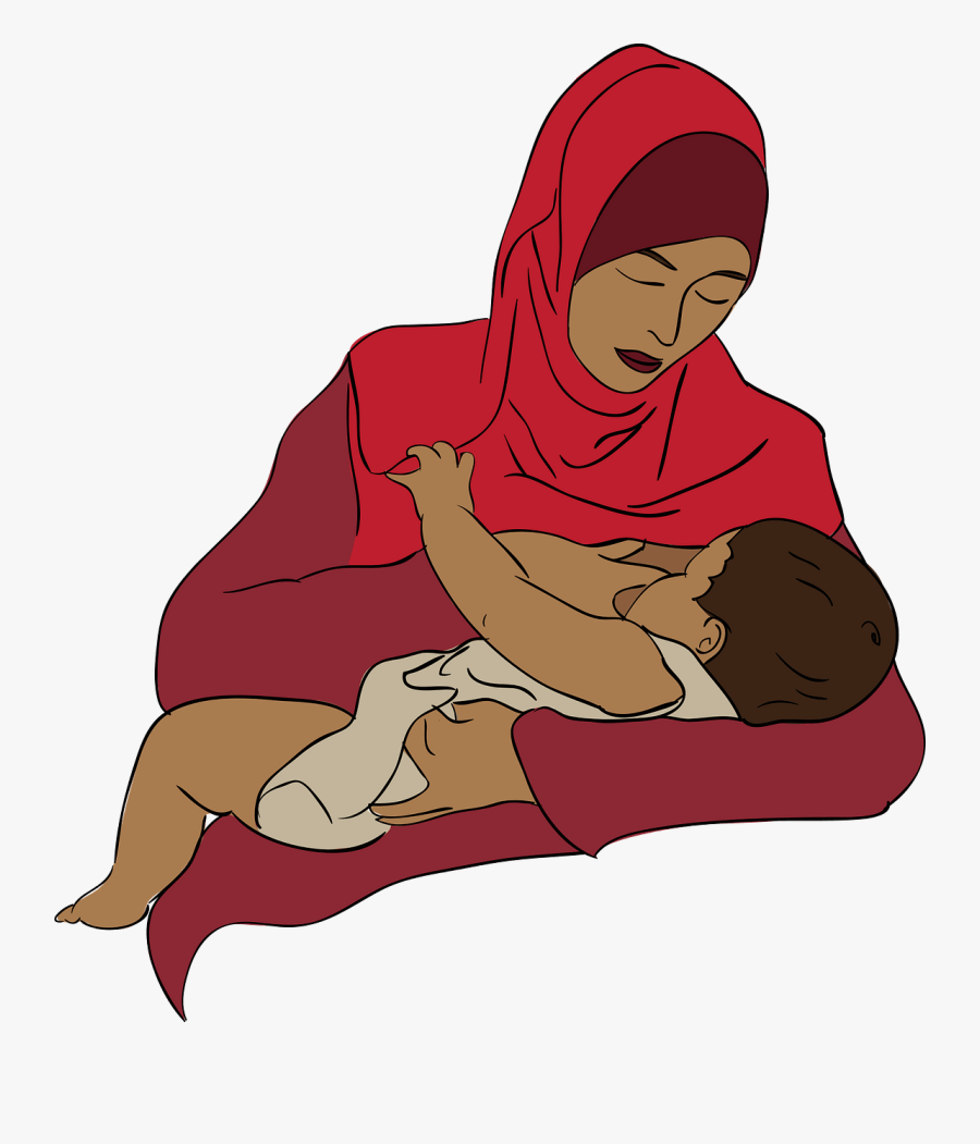 Breastfeed Mom Vector Png, Transparent Clipart