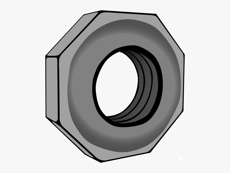 Hex Nut Svg Clip Arts - Animated Nut And Bolt, Transparent Clipart