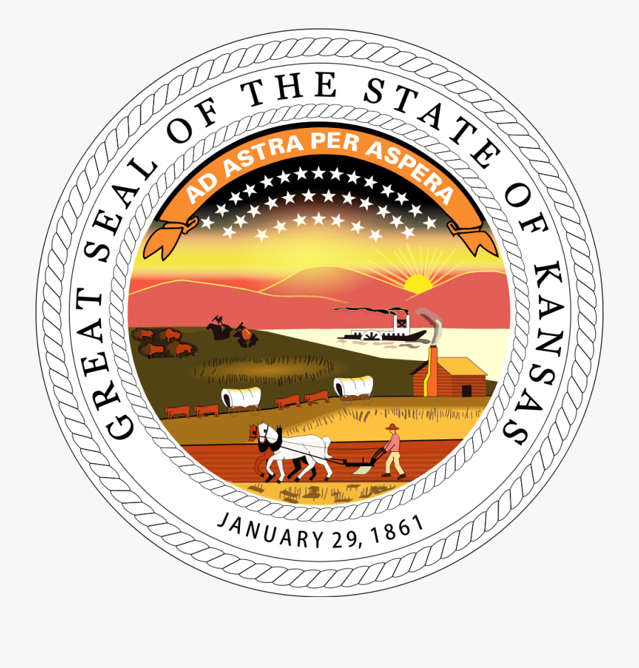 State Seal For Kansas, Transparent Clipart