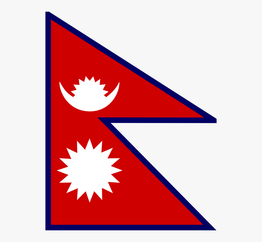 Angle,area,wing - Nepal Flag Clip Art, Transparent Clipart