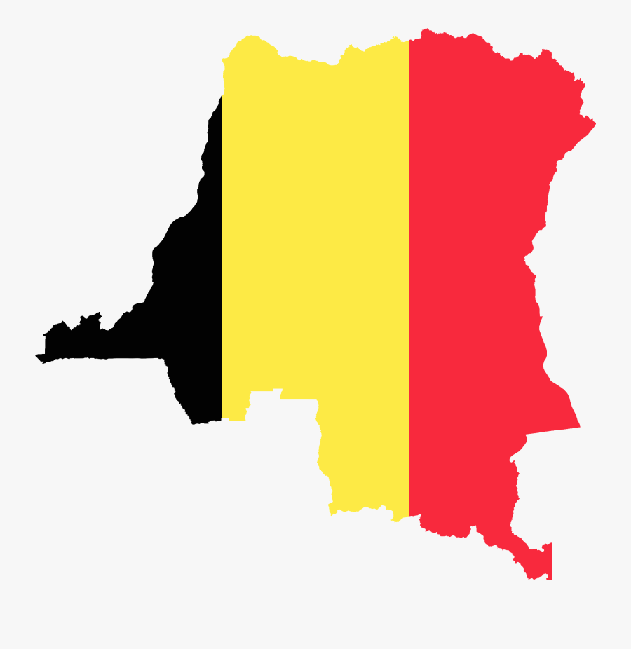 Flag Map Of The Congo Free State - Flag Map Of Belgium, Transparent Clipart