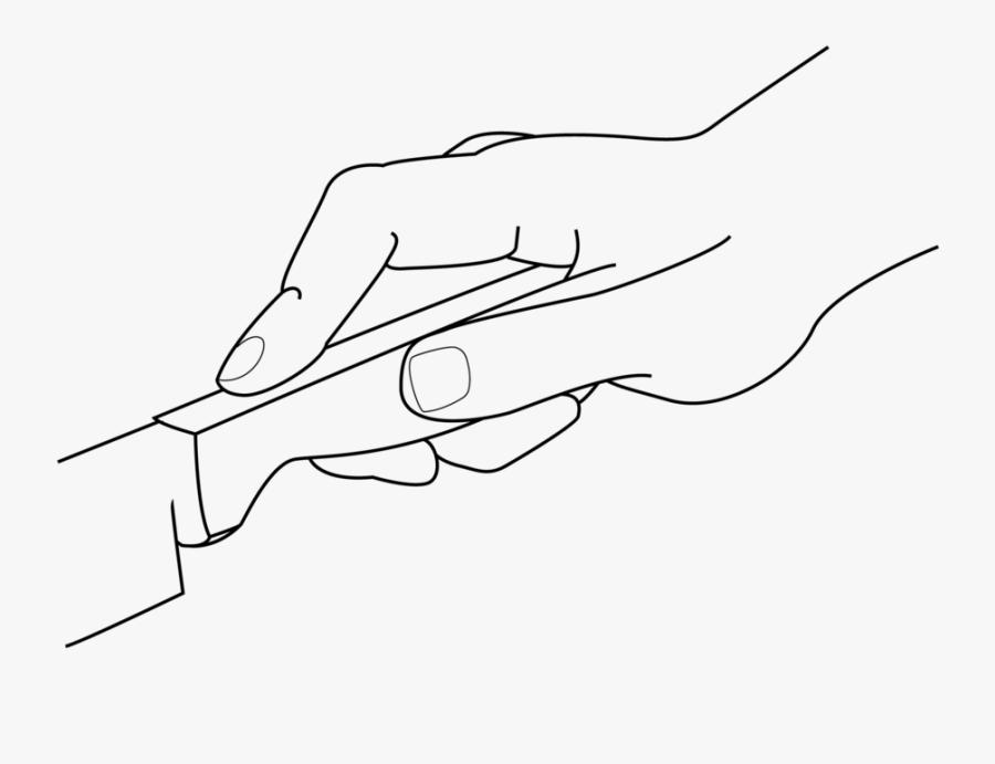 Transparent Hand Holding Knife Clipart - Hand, Transparent Clipart