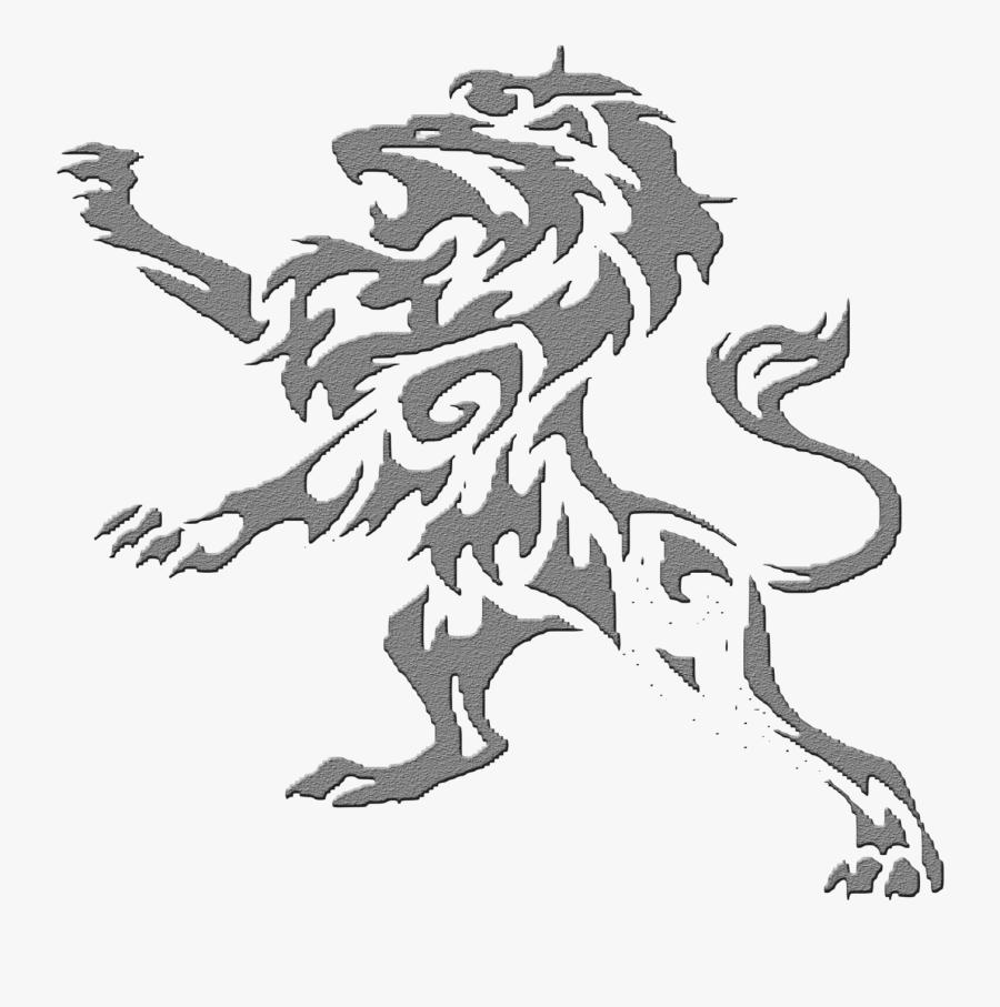 Transparent Leo The Lion Clipart - Lion Tribal Tattoo Design, Transparent Clipart
