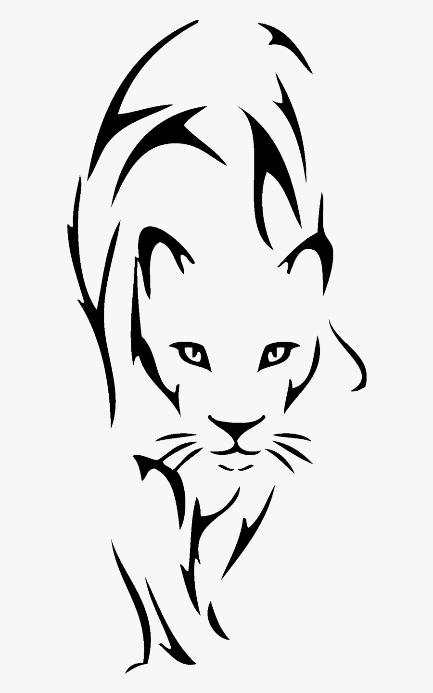 Lion Tattoo Drawing Tribe Clip Art - Tribal Lioness Tattoo, Transparent Clipart