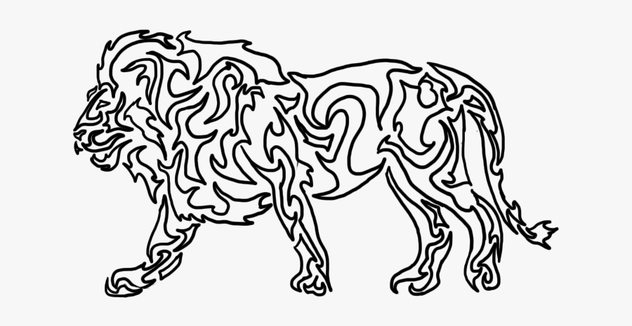 Lion Clipart Shadow - Shadow Drawing Of Animals, Transparent Clipart