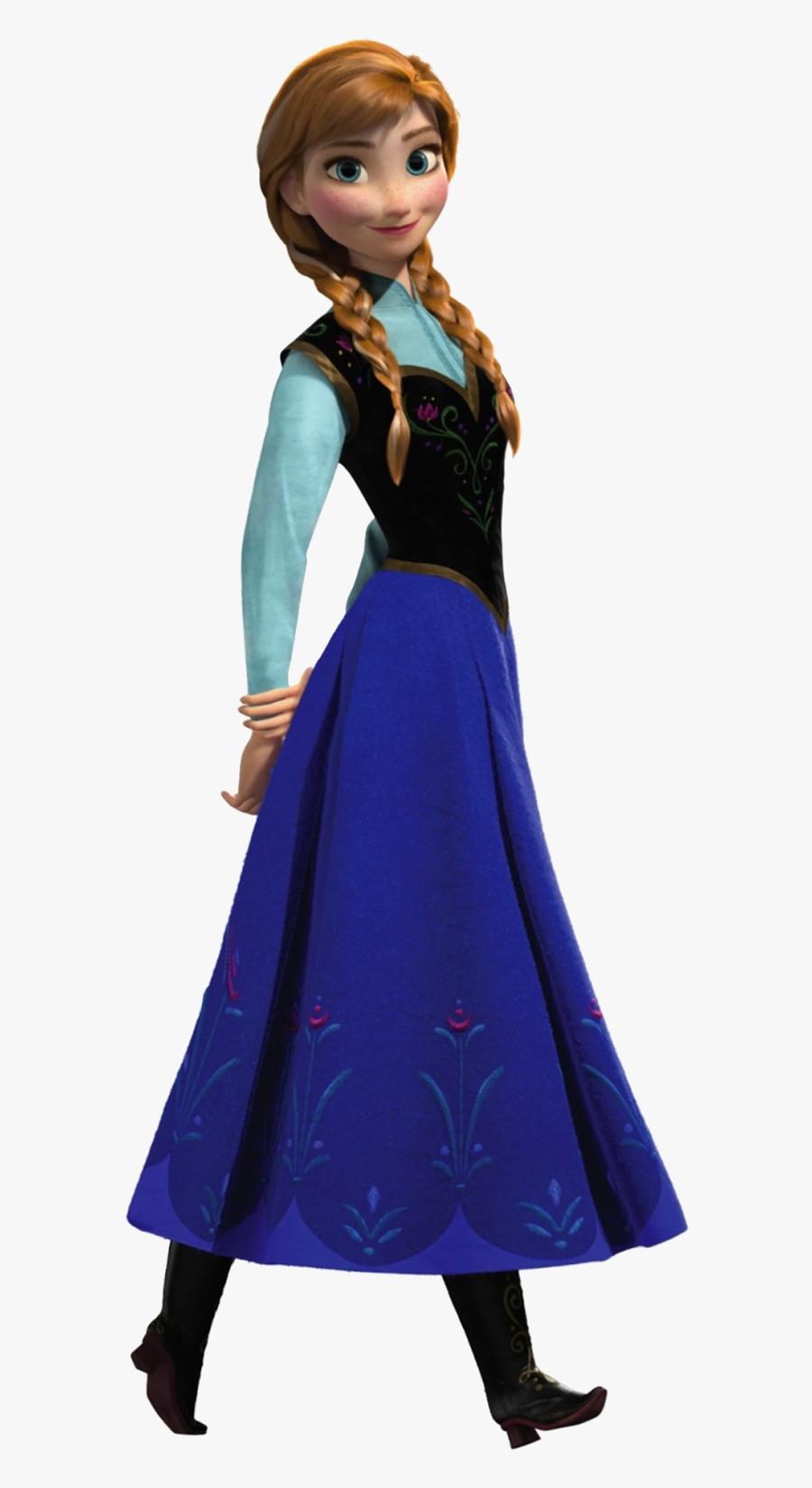 Transparent Costumes Clipart - Elsa Anna Frozen Characters, Transparent Clipart