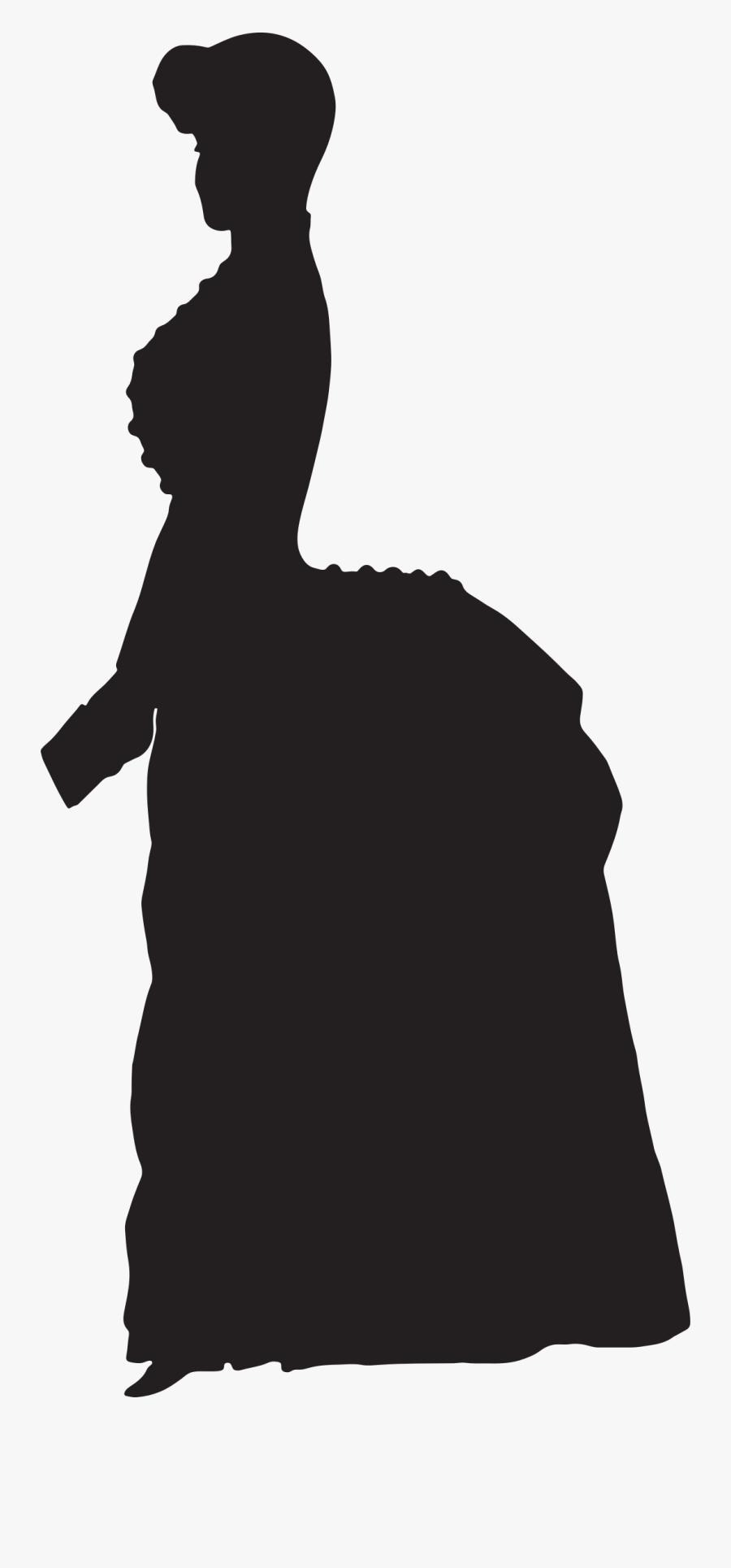 Silhouette Woman Victorian Era - Silhouette Victorian ...