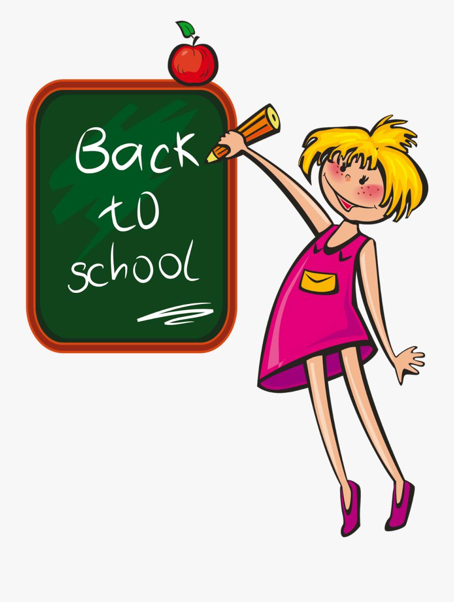 School Days Clip Art, Transparent Clipart