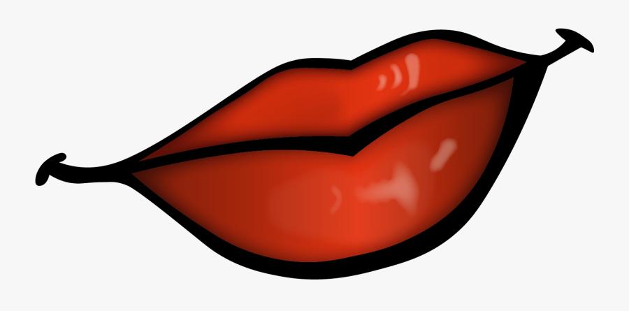Lip Clipart Orange Cartoon A Pair Of Lips Free Transparent Clipart Clipartkey