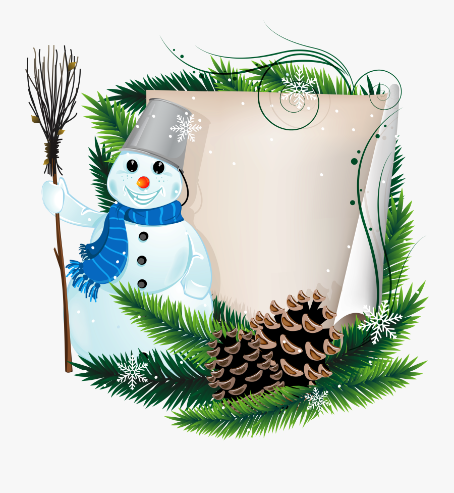 Scroll Paper Background Christmas, Transparent Clipart