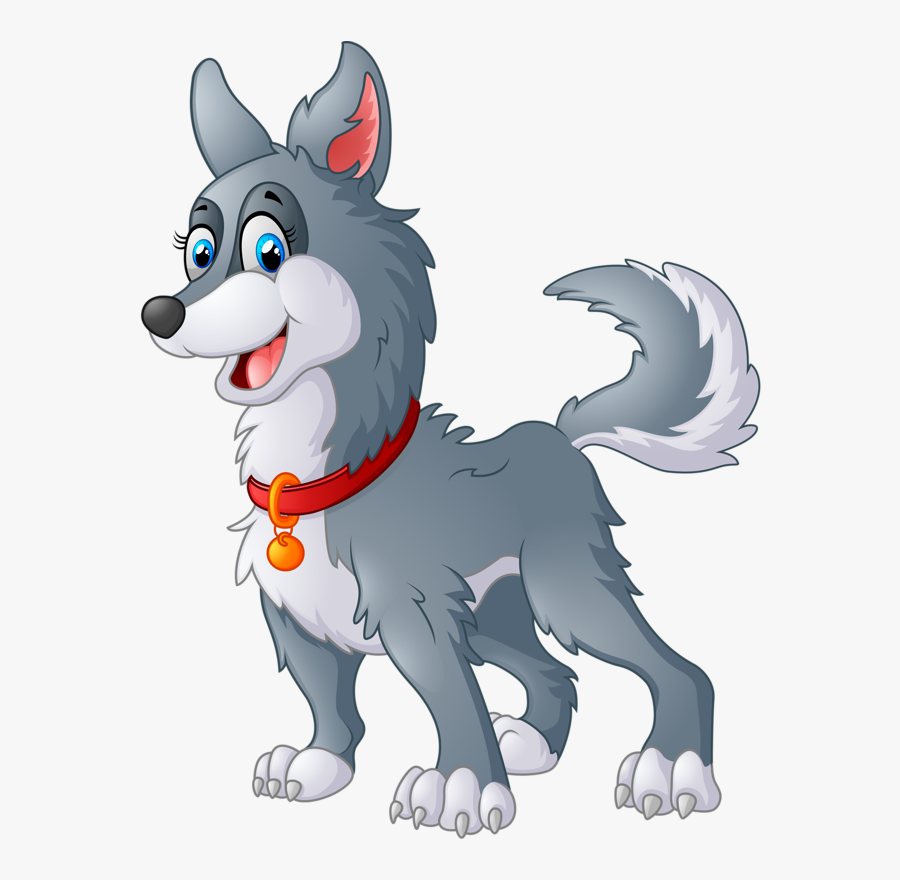 Cartoon Animals And Children - Cartoon Dog On Farm, Transparent Clipart