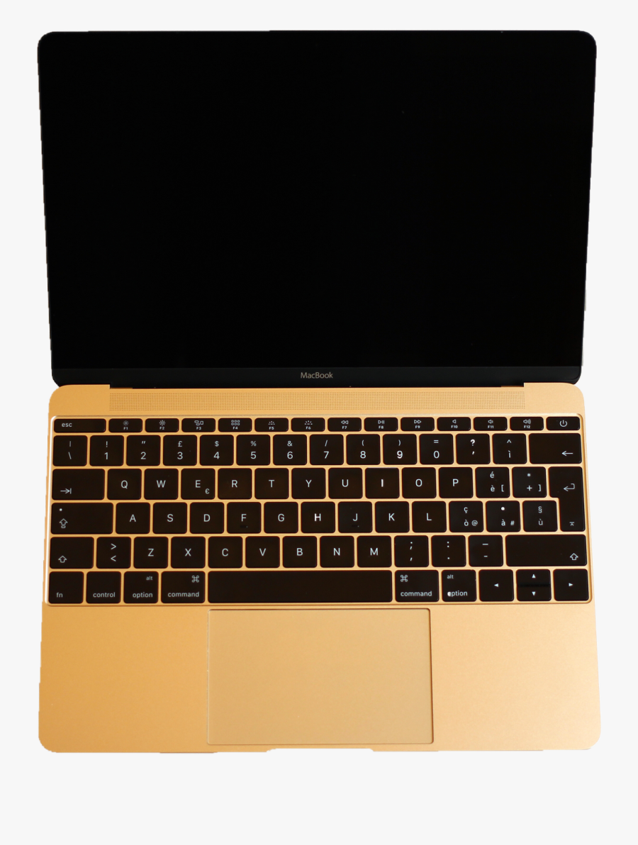 Clipart Computer Notebook - Apple Macbook Rose Gold 12 Inch, Transparent Clipart