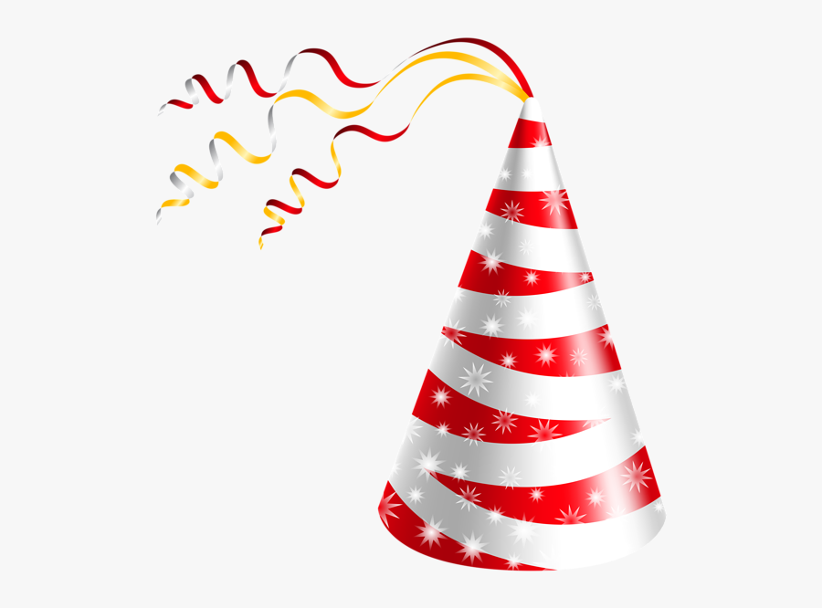 Streamers Clipart Party Hat - Happy Birthday Cap Png, Transparent Clipart