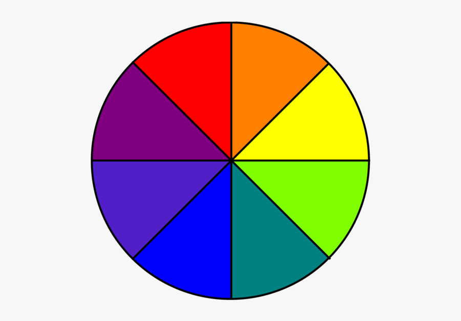 Color Wheel 8 Parts, Transparent Clipart