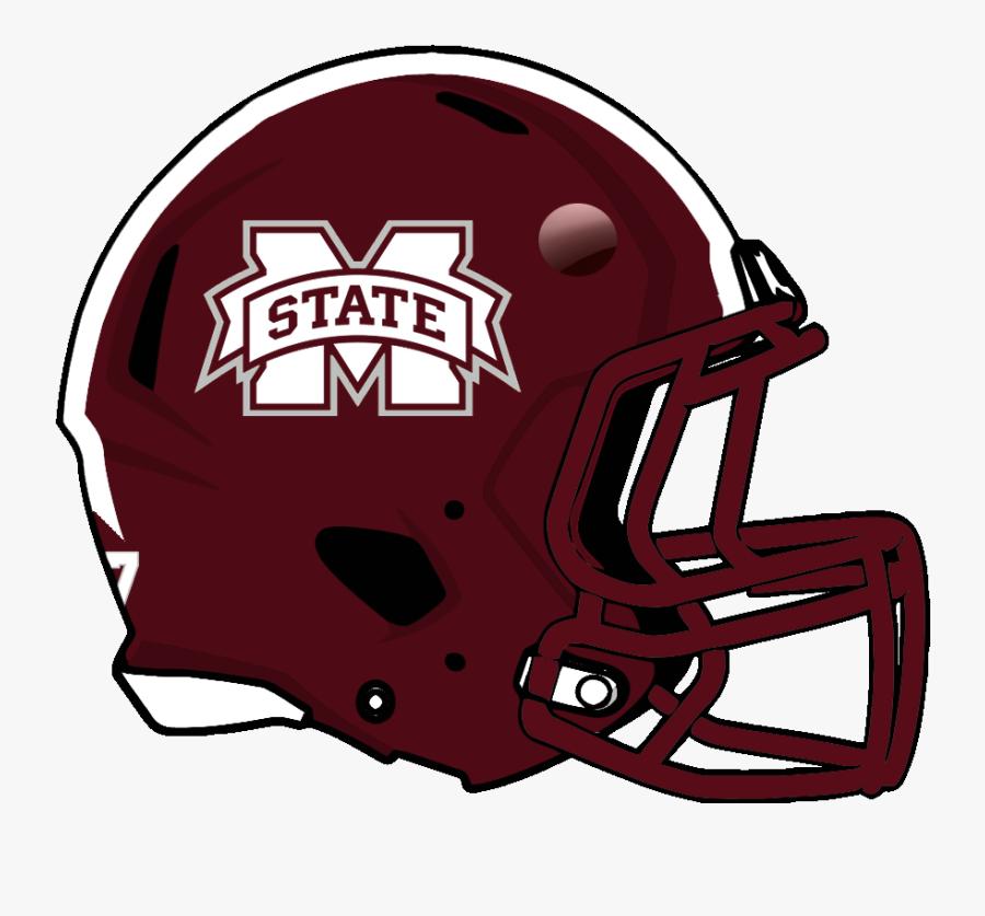 Transparent Crashing Football Helmets Clipart - Mississippi State Football Helmet, Transparent Clipart