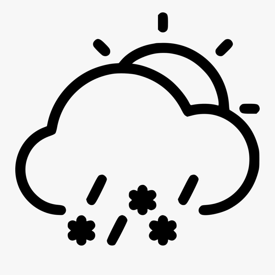Snow Rain Day Comments - Rain Storm Vector Png, Transparent Clipart
