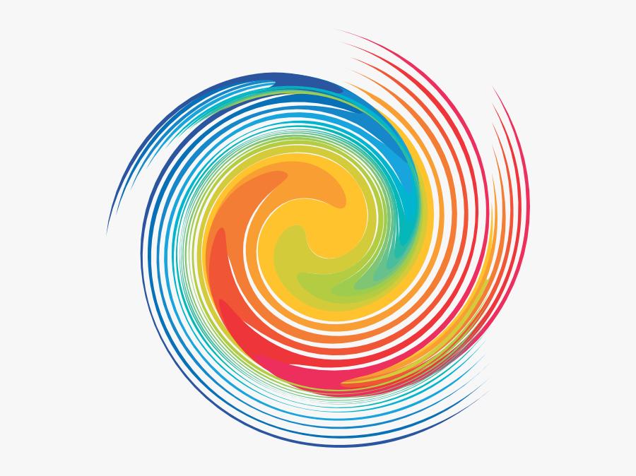 Color Clip Art - Color Swirl Png, Transparent Clipart