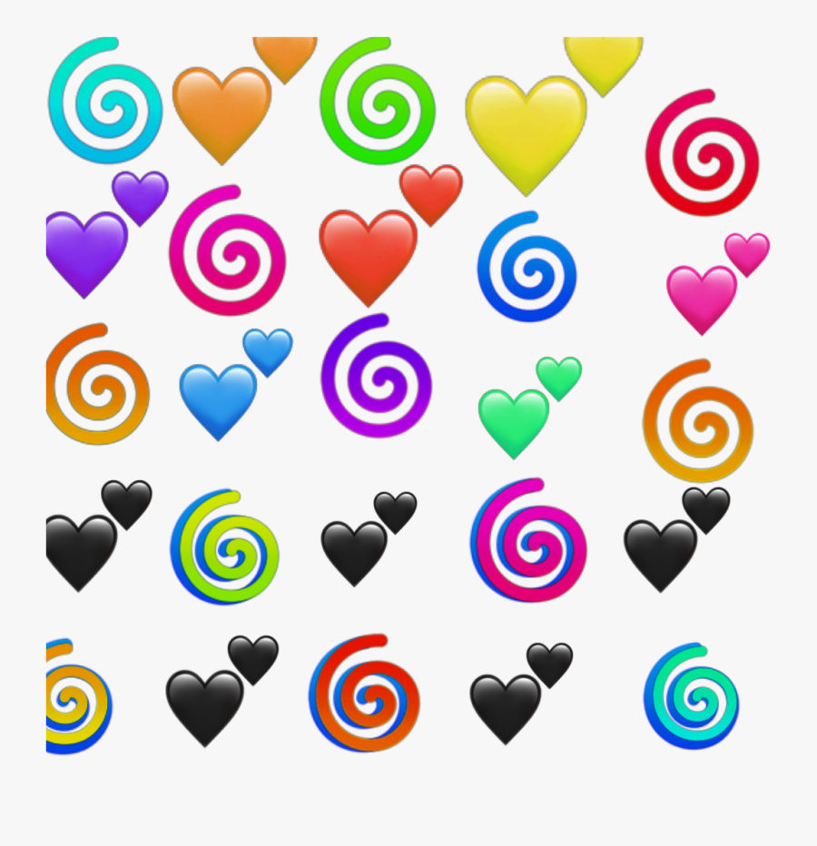 #swirl #swirls #emojis #color #coloring #colorful #emojisstickers - Heart, Transparent Clipart