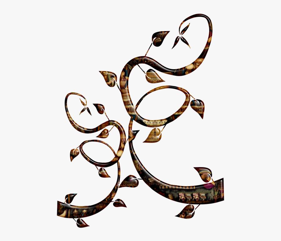 Colorful Decorative Swirls, Transparent Clipart