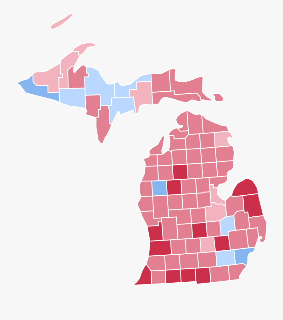 Michigan Presidential Election Results - 2018 Michigan Governor Results By County, Transparent Clipart