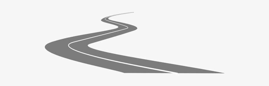 Country Road Vector Image - Old Road Clipart Black And White, Transparent Clipart