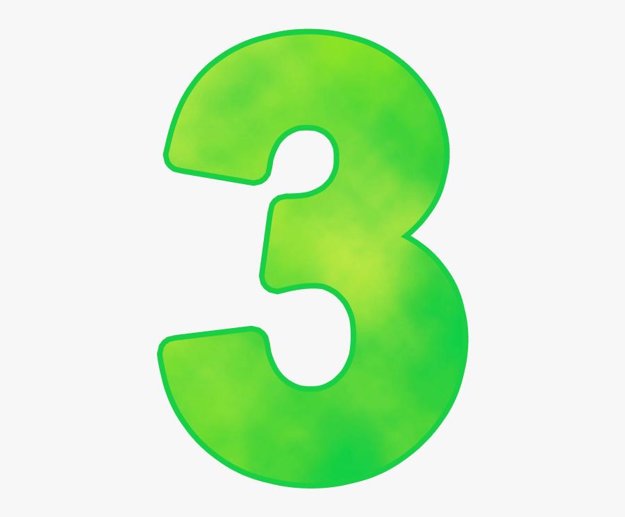 Number 3 Png - Green Number 3 Png, Transparent Clipart