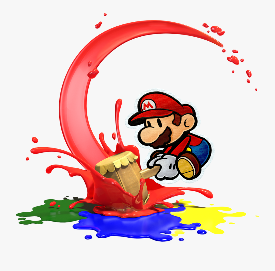 Transparent Wii U Clipart - Paper Mario Color Splash With Hammer, Transparent Clipart