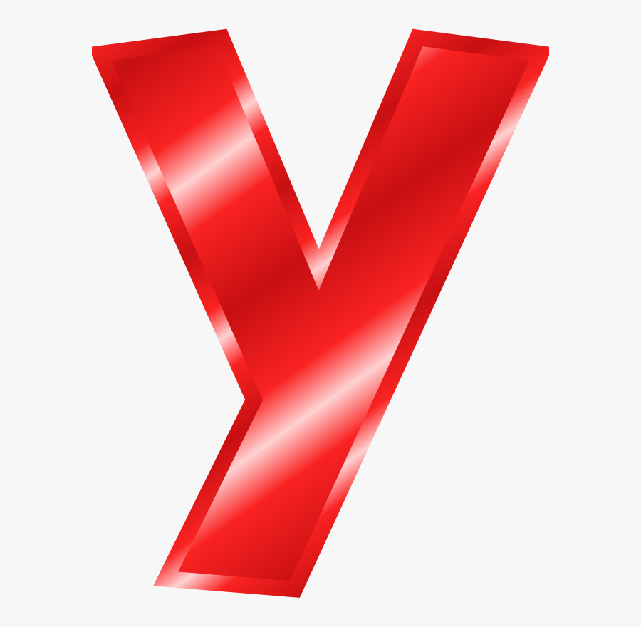 Effect Letters Alphabet Red - Big Letter Y Red, Transparent Clipart