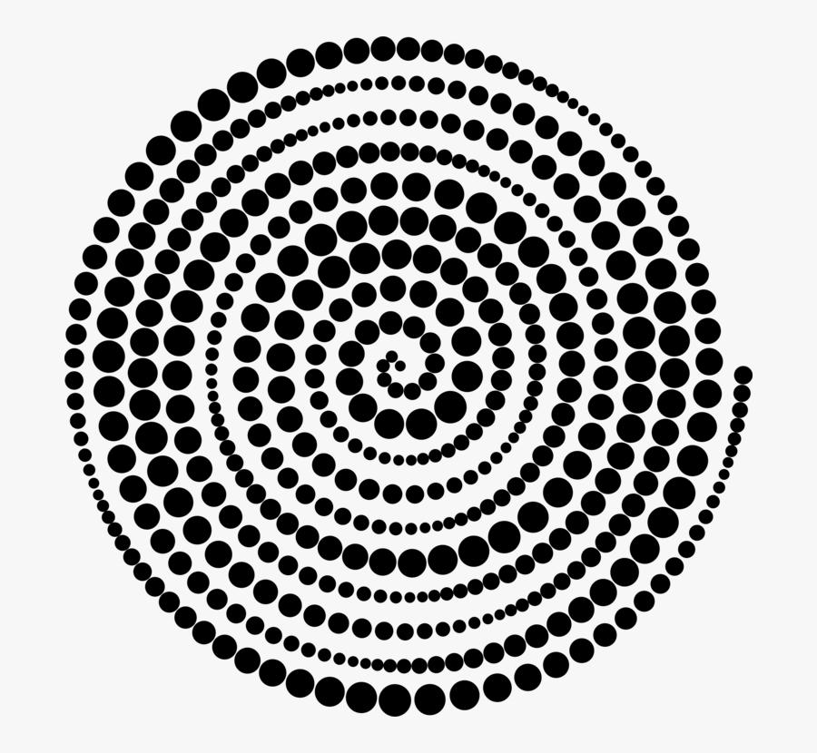 Symmetry,area,monochrome Photography - Spiral Circles Halftone, Transparent Clipart