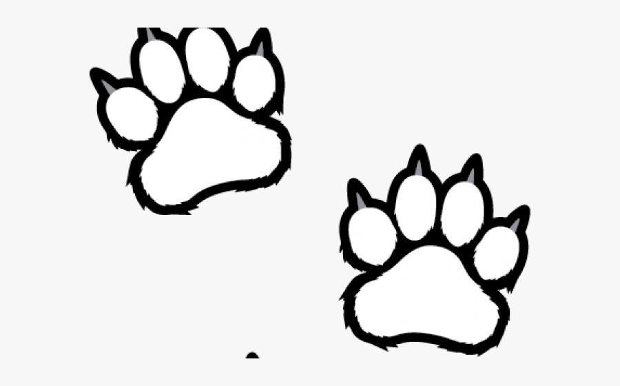 White Tiger Clipart Tiger Paw - Tiger Paw Print Clipart, Transparent Clipart