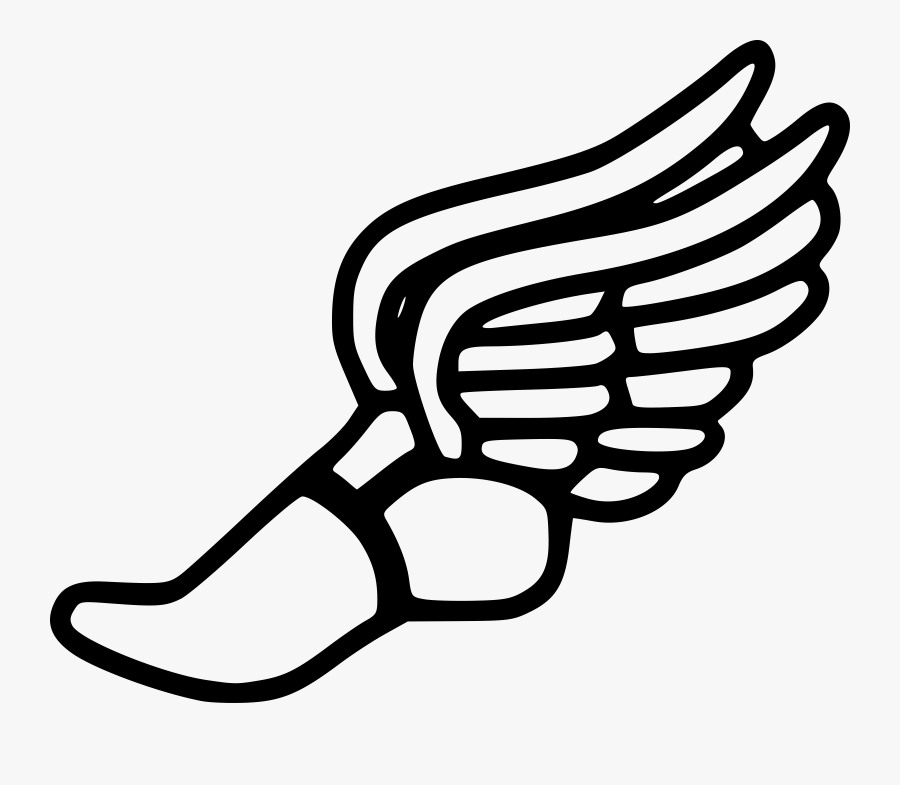 Hermes Shoes Clipart - Track And Field Winged Foot, Transparent Clipart