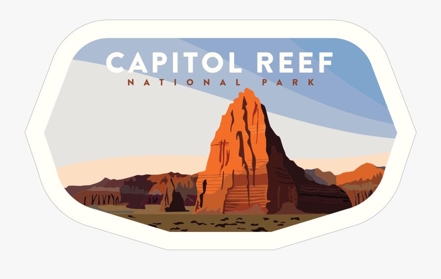 Clean Np Badge - National Park Badges Capitol Reef Sticker Pack, Transparent Clipart