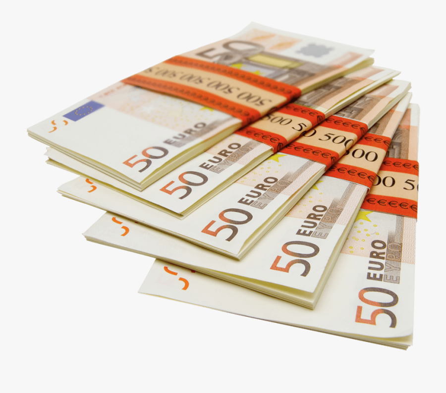 Stack Of Money Clipart Transparent Banner Transparent - Euro Stacks Png, Transparent Clipart