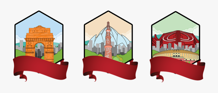 Golden Triangle India Clipart, Transparent Clipart