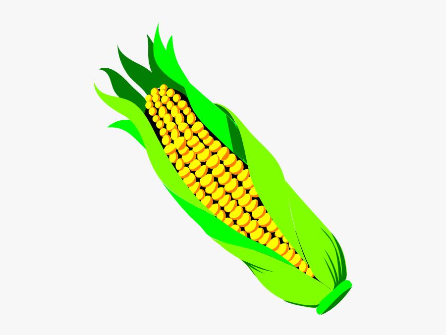 Corn On The Cob Clip Art - Ear Of Corn Transparent Background, Transparent Clipart