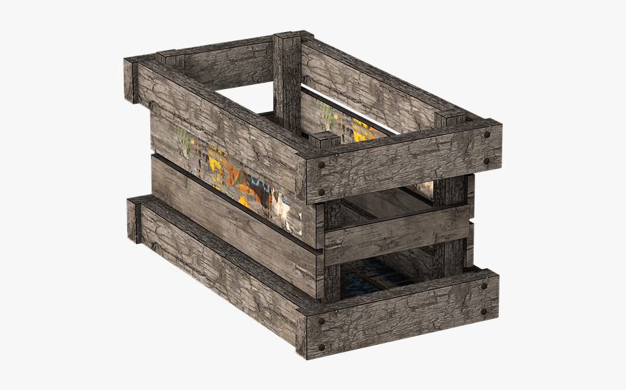 Box Wooden Crate - Transparent Wooden Box Png, Transparent Clipart