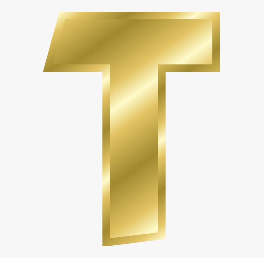 Free Effect Letters Alphabet Gold - Gold Alphabet Letters, Transparent Clipart