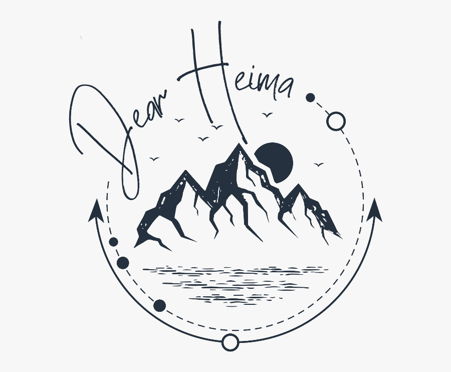 Dear Heima - Mountain Forest Tattoo Design, Transparent Clipart
