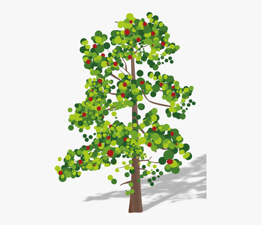 Tree Clipart With Flower - Tree With Fruits Png, Transparent Clipart
