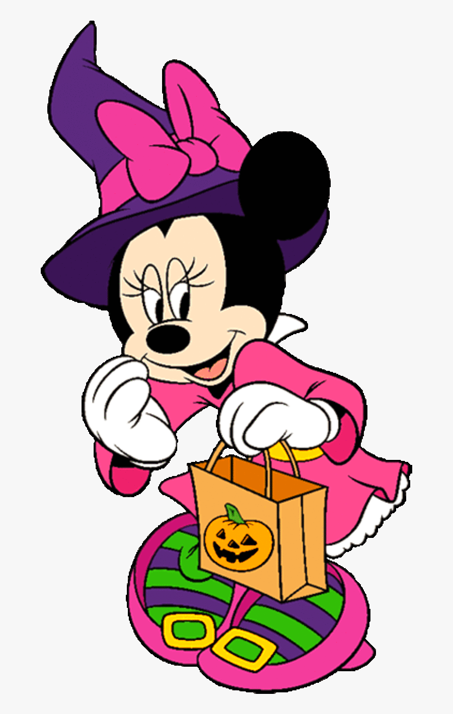 Halloween Minnie Mouse Clip Art - Halloween Minnie Mouse And Mickey, Transparent Clipart