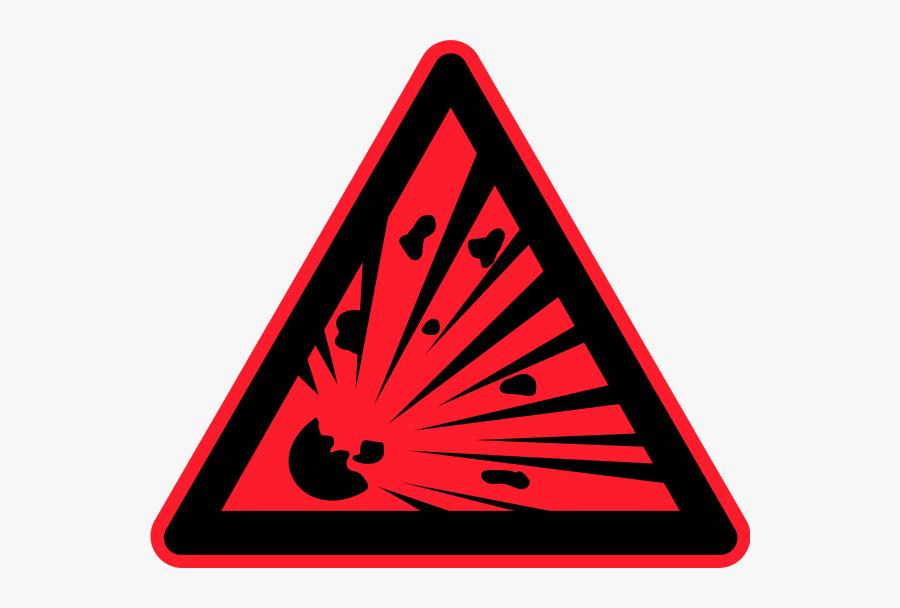 Hazardous Waste Symbol Clip Art Clipart - Explosion Sign, Transparent Clipart