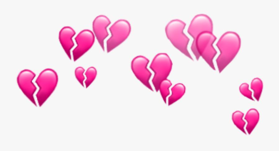 #broken #heart #emoji #crown #circle #glitter #glitch - Snapchat Heart Filter Png, Transparent Clipart