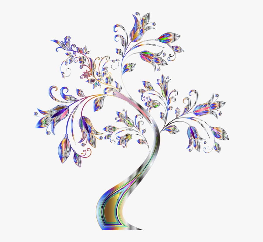 Botany,plant,flower - Frame Color Tree Design, Transparent Clipart