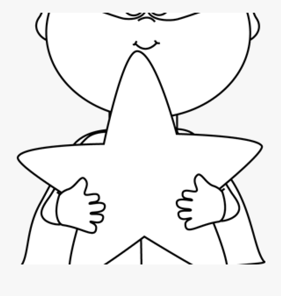 Superhero Clipart Black And White Black And White Boy - Superhero Star Clipart Black And White, Transparent Clipart