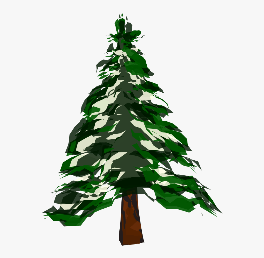 Winter Pine Trees Clipart - Pine Tree Clipart, Transparent Clipart