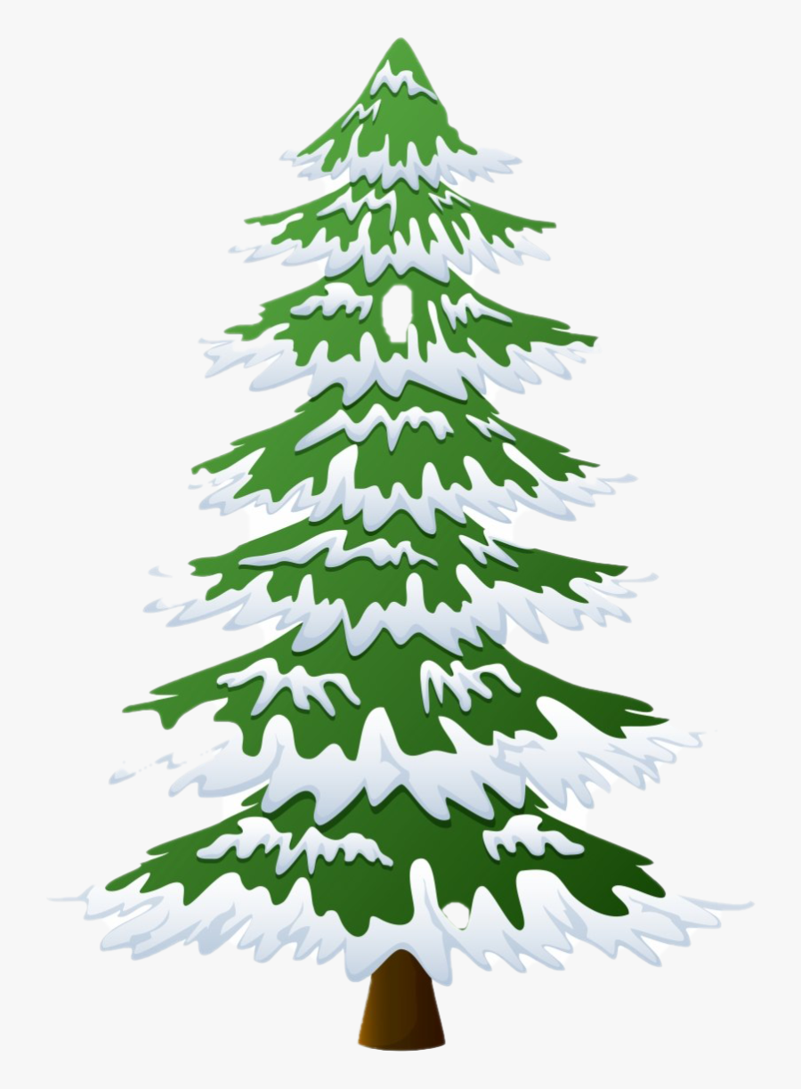 Christmas Pine Tree Png Photo - Christmas Tree With Snow Png, Transparent Clipart