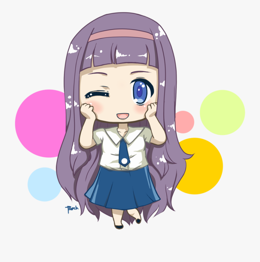 Chibi Anime Student Png, Transparent Clipart