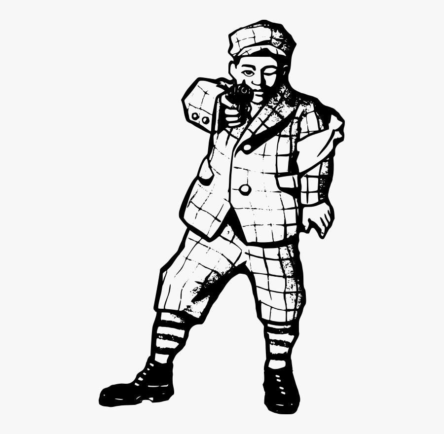 Man With A Gun - Yakuza Clipart, Transparent Clipart