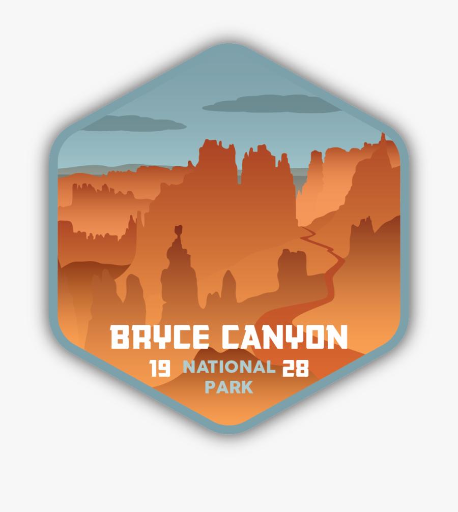 Bryce Canyon National Park Sticker, Transparent Clipart
